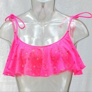 Victoria's Secret PINK Bikini Top Hot Pink Sz Med